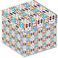 Colorful dots pattern Storage Stool