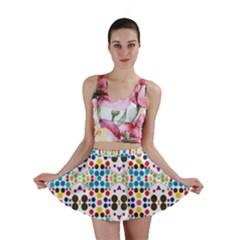 Colorful Dots Pattern Mini Skirt