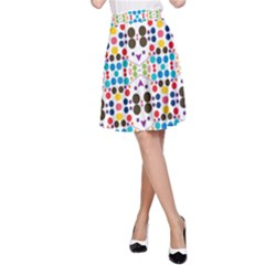 Colorful dots pattern A-line Skirt