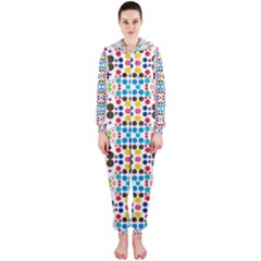 Colorful dots pattern Hooded OnePiece Jumpsuit