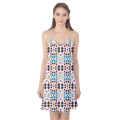 Colorful Dots Pattern Camis Nightgown