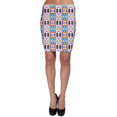Colorful dots pattern Bodycon Skirt