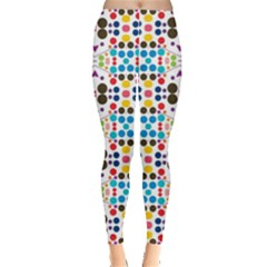 Colorful dots pattern Leggings