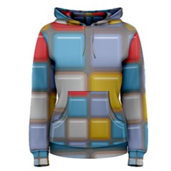 Shiny Squares pattern Pullover Hoodie
