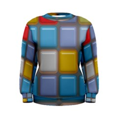 Shiny Squares pattern Sweatshirt