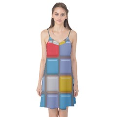Shiny Squares pattern Camis Nightgown