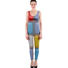 Shiny Squares pattern OnePiece Catsuit