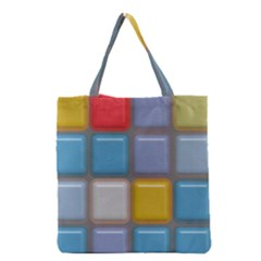 Shiny Squares Pattern Grocery Tote Bag