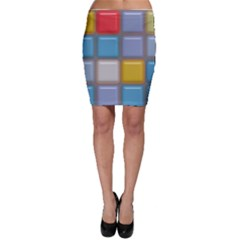 Shiny Squares Pattern Bodycon Skirt