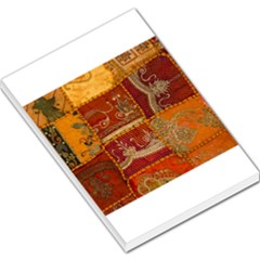 India Print Realism Fabric Art Large Memo Pads