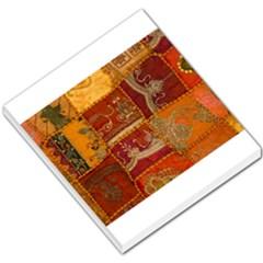 India Print Realism Fabric Art Small Memo Pads