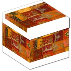 India Print Realism Fabric Art Storage Stool 12