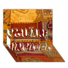 India Print Realism Fabric Art You Are Invited 3d Greeting Card (7x5)