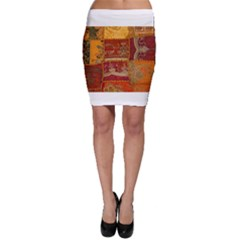 India Print Realism Fabric Art Bodycon Skirts