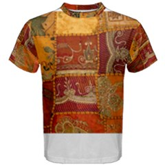 India Print Realism Fabric Art Men s Cotton Tees