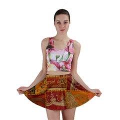 India Print Realism Fabric Art Mini Skirts