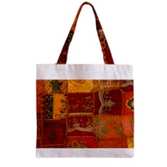 India Print Realism Fabric Art Grocery Tote Bags