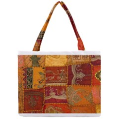 India Print Realism Fabric Art Tiny Tote Bags