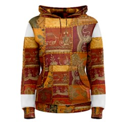 India Print Realism Fabric Art Women s Pullover Hoodies