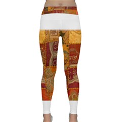 India Print Realism Fabric Art Yoga Leggings