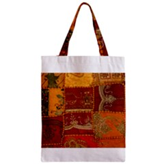 India Print Realism Fabric Art Zipper Classic Tote Bags