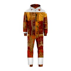 India Print Realism Fabric Art Hooded Jumpsuit (Kids)