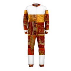 India Print Realism Fabric Art OnePiece Jumpsuit (Kids)