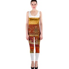 India Print Realism Fabric Art OnePiece Catsuits