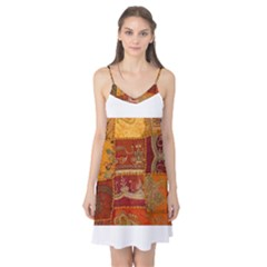 India Print Realism Fabric Art Camis Nightgown