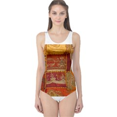 India Print Realism Fabric Art Women s One Piece Swimsuits