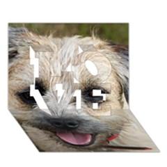 Border Terrier LOVE 3D Greeting Card (7x5)