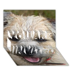 Border Terrier YOU ARE INVITED 3D Greeting Card (7x5)