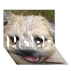 Border Terrier HOPE 3D Greeting Card (7x5)