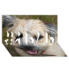 Border Terrier #1 DAD 3D Greeting Card (8x4)