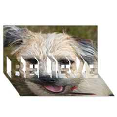 Border Terrier BELIEVE 3D Greeting Card (8x4)