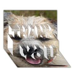 Border Terrier THANK YOU 3D Greeting Card (7x5)