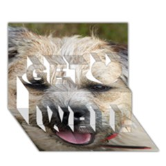 Border Terrier Get Well 3D Greeting Card (7x5)