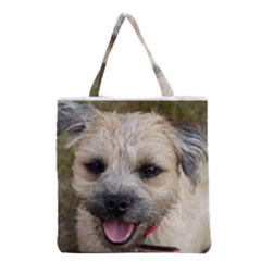 Border Terrier Grocery Tote Bags