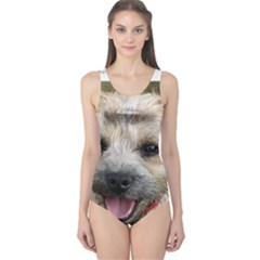 Border Terrier Women s One Piece Swimsuits