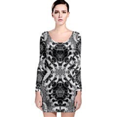 Crazy Beautiful Abstract  Long Sleeve Bodycon Dresses