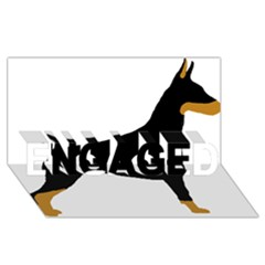 Doberman Pinscher black and tan silhouette ENGAGED 3D Greeting Card (8x4)