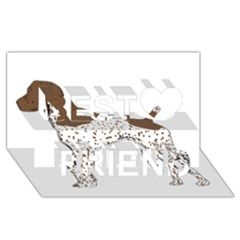 German Shorthair Pointer Silo Color Best Friends 3D Greeting Card (8x4)
