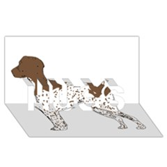 German Shorthair Pointer Silo Color HUGS 3D Greeting Card (8x4)