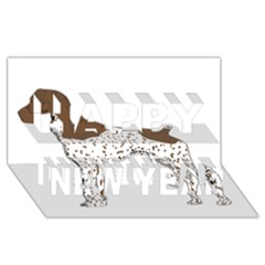 German Shorthair Pointer Silo Color Happy New Year 3D Greeting Card (8x4)