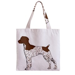 German Shorthair Pointer Silo Color Zipper Grocery Tote Bags