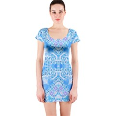 Crazy Beautiful Abstract  Short Sleeve Bodycon Dresses