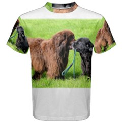 2 Newfies Men s Cotton Tees