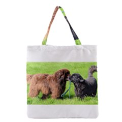2 Newfies Grocery Tote Bags