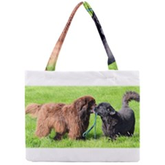 2 Newfies Tiny Tote Bags