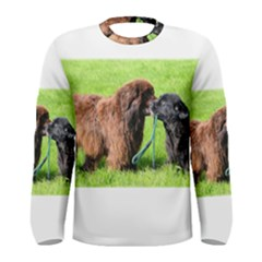 2 Newfies Men s Long Sleeve T-shirts